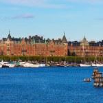 Panorama van de oude stad van stockholm, Zweden — Stockfoto