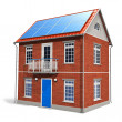 Royalty-Free Stock Photo: House with solar batteries on the roof