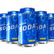 Set of refreshing soda drinks in metal cans — Stock Photo #5271669