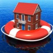 Stock Photo: Rescue of real estate concept