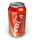 Cola drink in metal can — Stock Photo