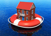 Rescue of real estate concept — Stock Photo