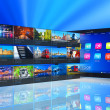 Streaming media on tablet PC - Stock Photo