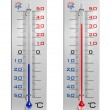 Set of thermometers — Stock Photo #5330515