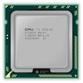 Cpu multinúcleo moderno — Vector de stock