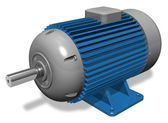 Industrial electric motor — Stock Photo