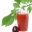 Plums juice — Stock Photo