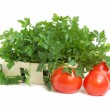 Parsley and tomatoes — Stock Photo