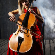 Beautiful cello musician — Stock Photo #4287127