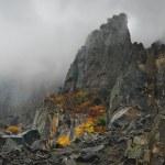 Fog autumn mountains — Stock Photo