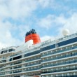 Cruise ship docked in port. — Stock Photo