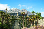 Palace and mountains — Stock Photo