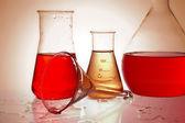 Chemical retorts — Stock Photo