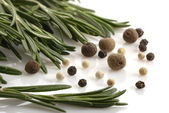 Bunch of rosemary and pepper — Stock Photo