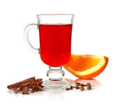 Mulled wine and spice — Stock Photo