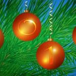 Christmas spheres — Stock Photo