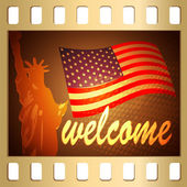 Welcome in USA — Stock Vector