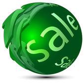 Sphere-sale — Stock Vector