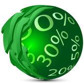Sphere-percents — Stock Vector