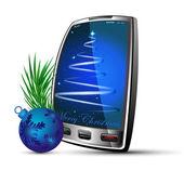 Telefon ve topu — Stok Vektör