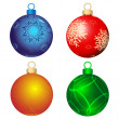 Vector de stock : Four color balls