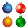 Four color balls — Vector de stock #4292010