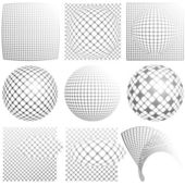 Spheres and squares — Vettoriale Stock