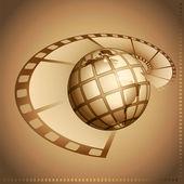 Film and globe — Stock Photo