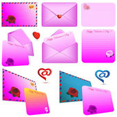 Sobres rosa — Vector de stock