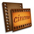 Cinema card — Stock Photo
