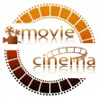 Stock Vector: Movie cinema