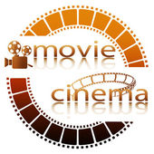 Movie cinema — Vettoriale Stock