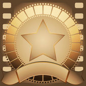 Cinema star and banner — Stock Vector