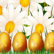 Royalty-Free Stock Vector Image: Chamomile end eggs