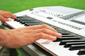 Keyboards player — Stock Photo