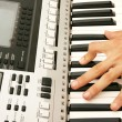 Stock Photo: Keyboards player