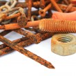 Stock Photo: Rusty nails,nuts and bolts