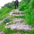 Stairs to the Kantara castle — Stock Photo #4672674