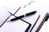 Pen and notebooks — Stock Photo
