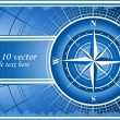 Blue background with compass rose. EPS 10 - Foto de Stock