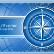 Blue background with compass rose. EPS 10 - Photo