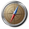 Stock Photo: Steel Compass