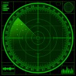 Radar screen — Stock Photo