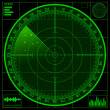 Stock Photo: Radar screen
