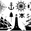 Set of Nautical Icons — Stock Photo
