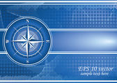 Blue background with compass rose. EPS 10 — Foto Stock