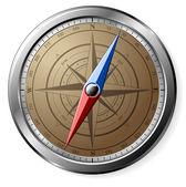 Steel Compass — Stock Photo