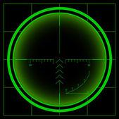 Radar screen — Stockfoto