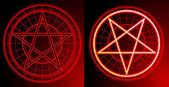 Two Pentagrams — Stock Photo
