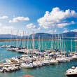 White yachts in port — Stock Photo #4397629